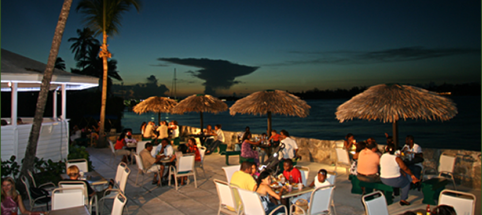 Green Parrot Bar and Grill in Nassau, Bahamas